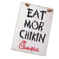 image relating to Eat More Chicken Sign Printable titled Chick-fil-A